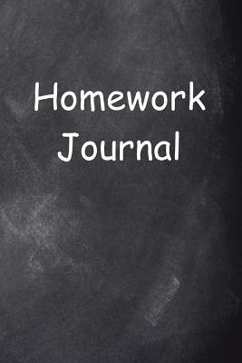 Homework Journal Chalkboard Design