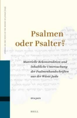 Psalmen Oder Psalter?