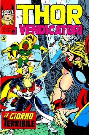 Thor e i Vendicatori (Il Mitico Thor) n. 218