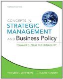 E-Study Guide For: Concepts in Strategic Management and Business Policy by Thomas L Wheelen, ISBN 9780132153355