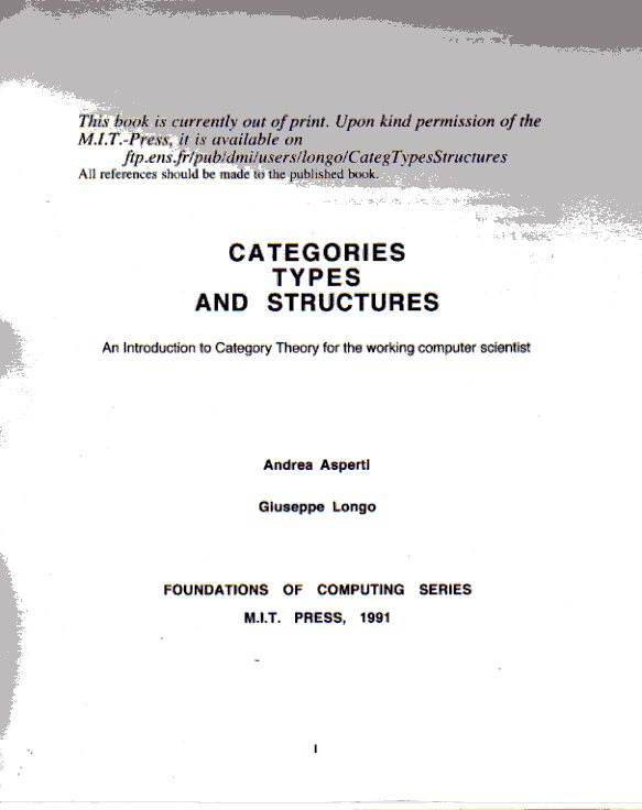 Categories, Types and Structure