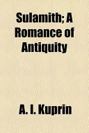 Sulamith; a Romance of Antiquity