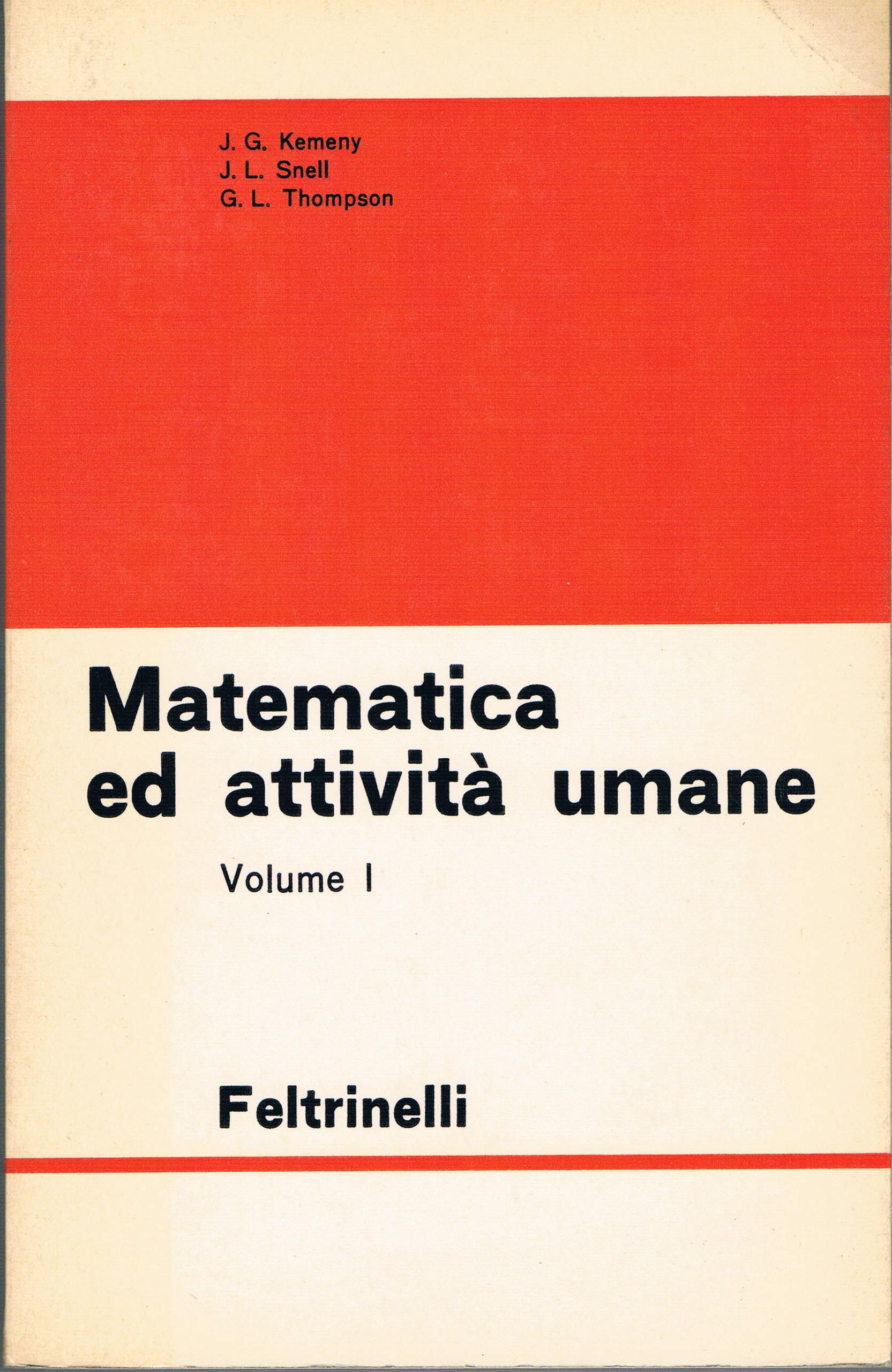 Matematica e attività umane - vol. 1