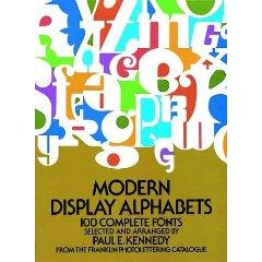 Mosern display alphabets