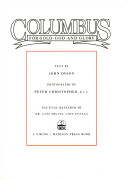Columbus--for gold, ...