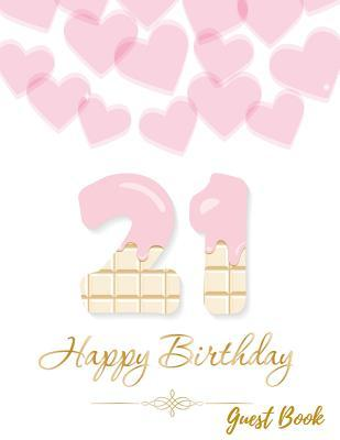 21 Happy Birthday Guest Book
