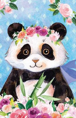 Journal Notebook For Animal Lovers Panda Bear In Flowers