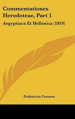 Commentationes Herodoteae, Part 1