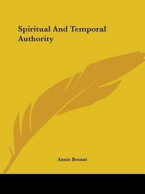Spiritual and Temporal Authority
