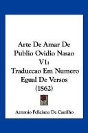 Arte De Amar De Publio Ovidio Nasao V1