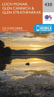 OS Explorer Map (430) Loch Monar, Glen Cannich and Glen Strathfarrar