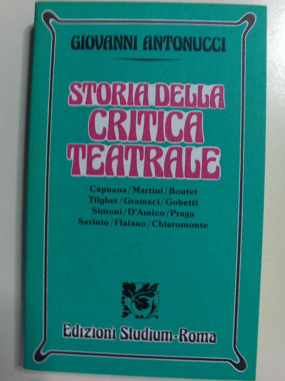 Storia della critica teatrale