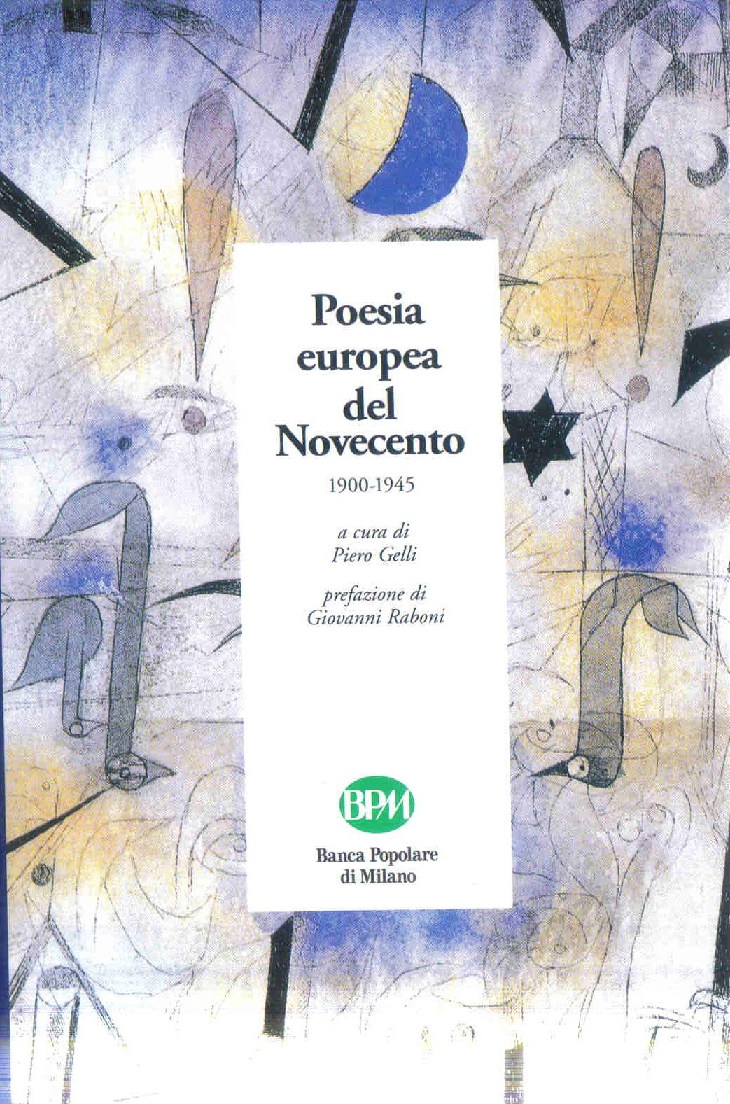 Poesia europea del Novecento