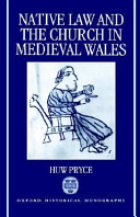 Native Law and the Church in Medieval Wales (Ohm)