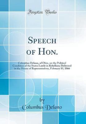 Speech of Hon.