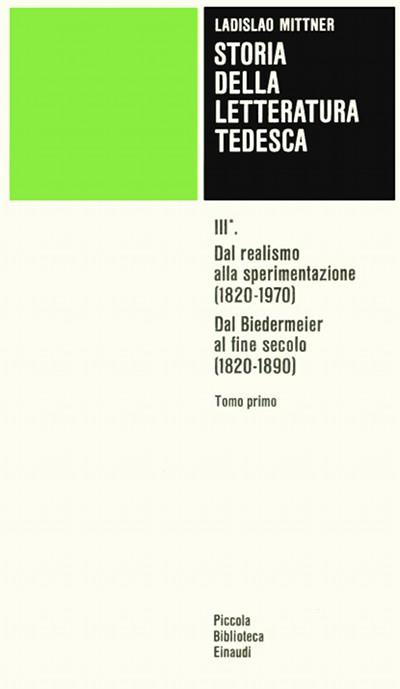 Storia della letteratura tedesca. Vol III.1