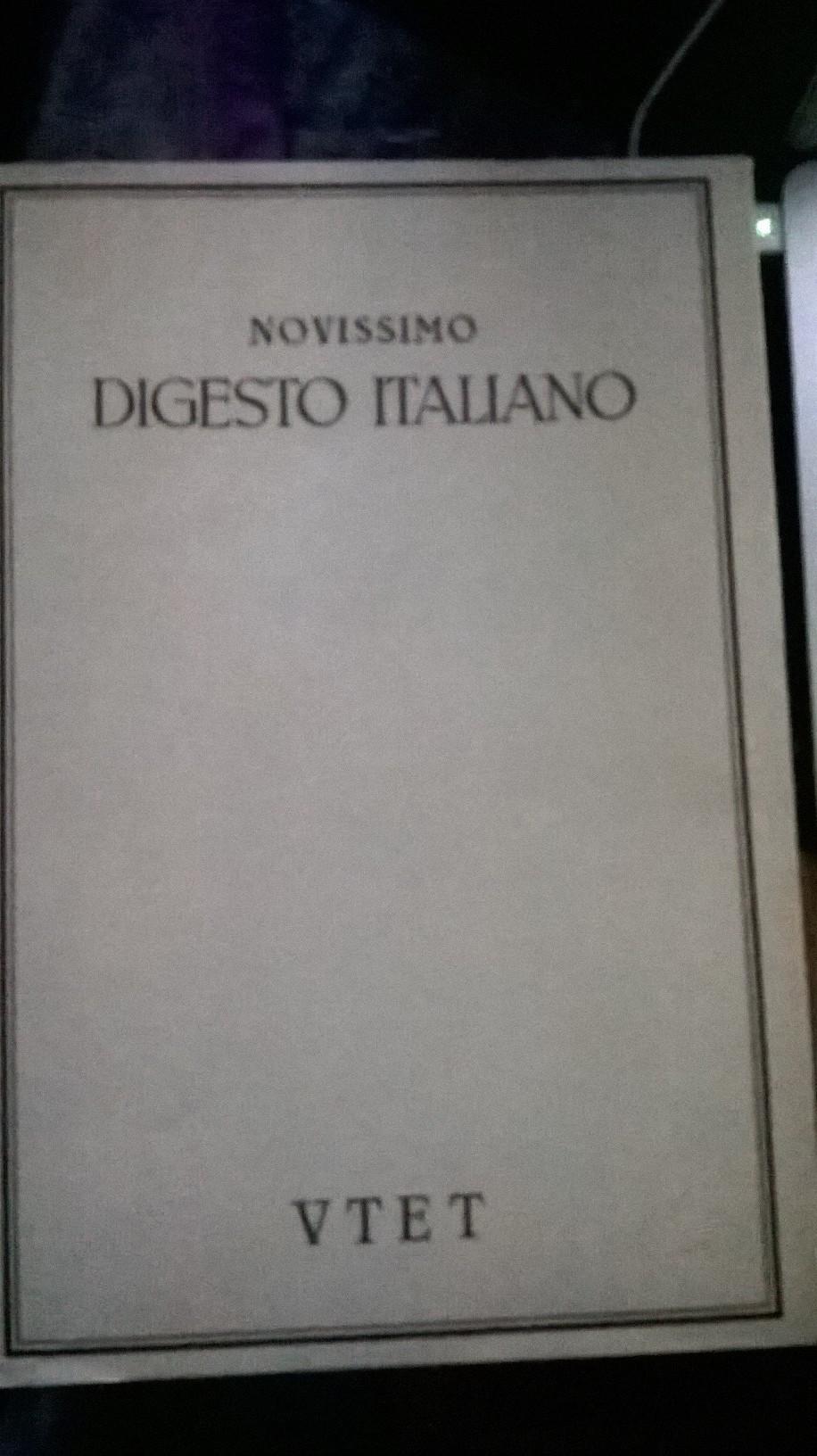 Novissimo digesto italiano Vol. XIX