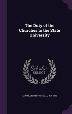 The Duty of the Churches to the State University