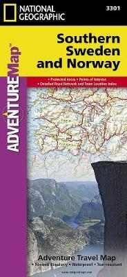 National Geographic Adventure Map Southern Norway and Sweden