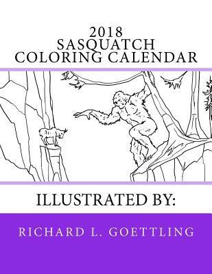 Sasquatch Coloring Calendar
