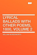 Lyrical Ballads with Other Poems, 1800
