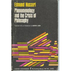 Phenomenology and the Crisis of Philosophy