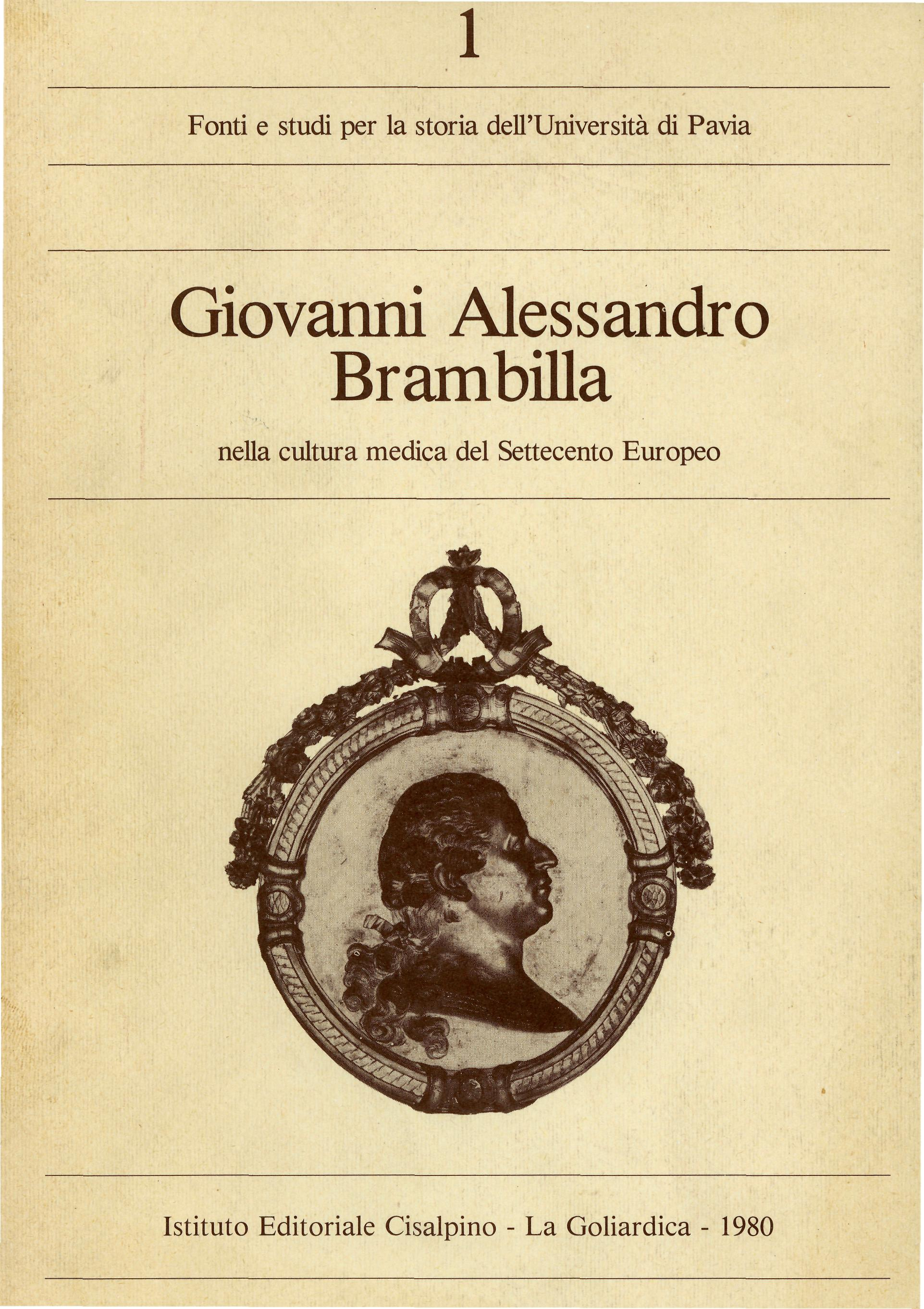 Giovanni Alessandro Brambilla nella cultura medica del Settecento europeo