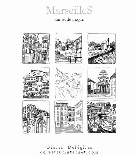 Marseilles, carnets de croquis