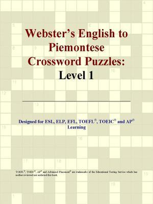 Webster's English to Piemontese Crossword Puzzles