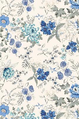 Blue Watercolor Flor...