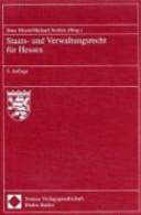 Staats- und Verwaltungsrecht für Hessen