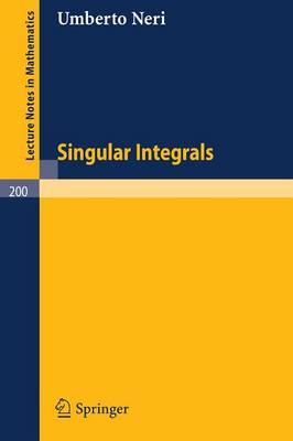 Singular Integrals