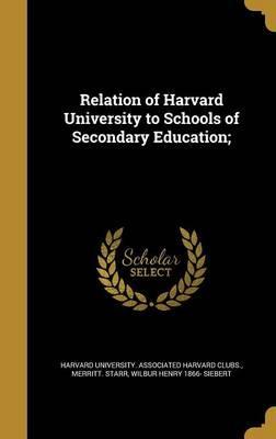 RELATION OF HARVARD UNIV TO SC