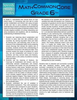 Math Common Core 6th Grade (Speedy Study Guide)