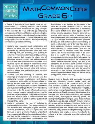 Math Common Core 6th Grade (Speedy Study Guide)