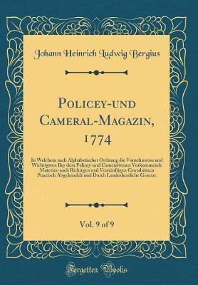 Policey-und Cameral-Magazin, 1774, Vol. 9 of 9