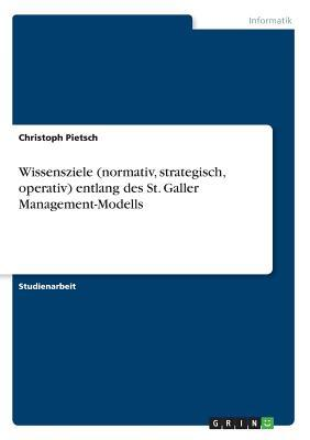 Wissensziele (normativ, strategisch, operativ) entlang des St. Galler Management-Modells