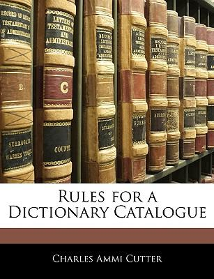 Rules for a Dictiona...