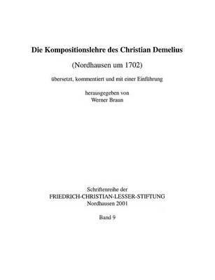 Die Kompositionslehre Des Christian Demelius