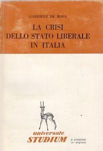 La crisi dello Stato liberale in Italia