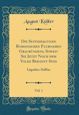 Die Suffixhaltigen Romanischen Flurnamen Graubündens, Soweit Sie Jetzt Noch dem Volke Bekannt Sind, Vol. 1