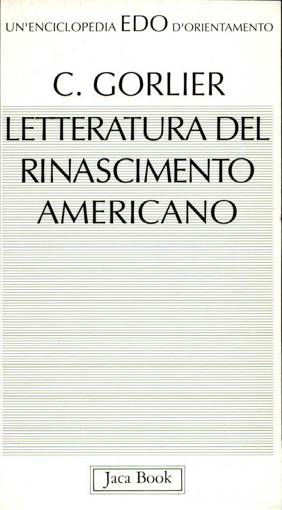 Letteratura del Rinascimento americano
