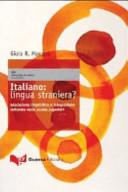 Italiano, lingua straniera?