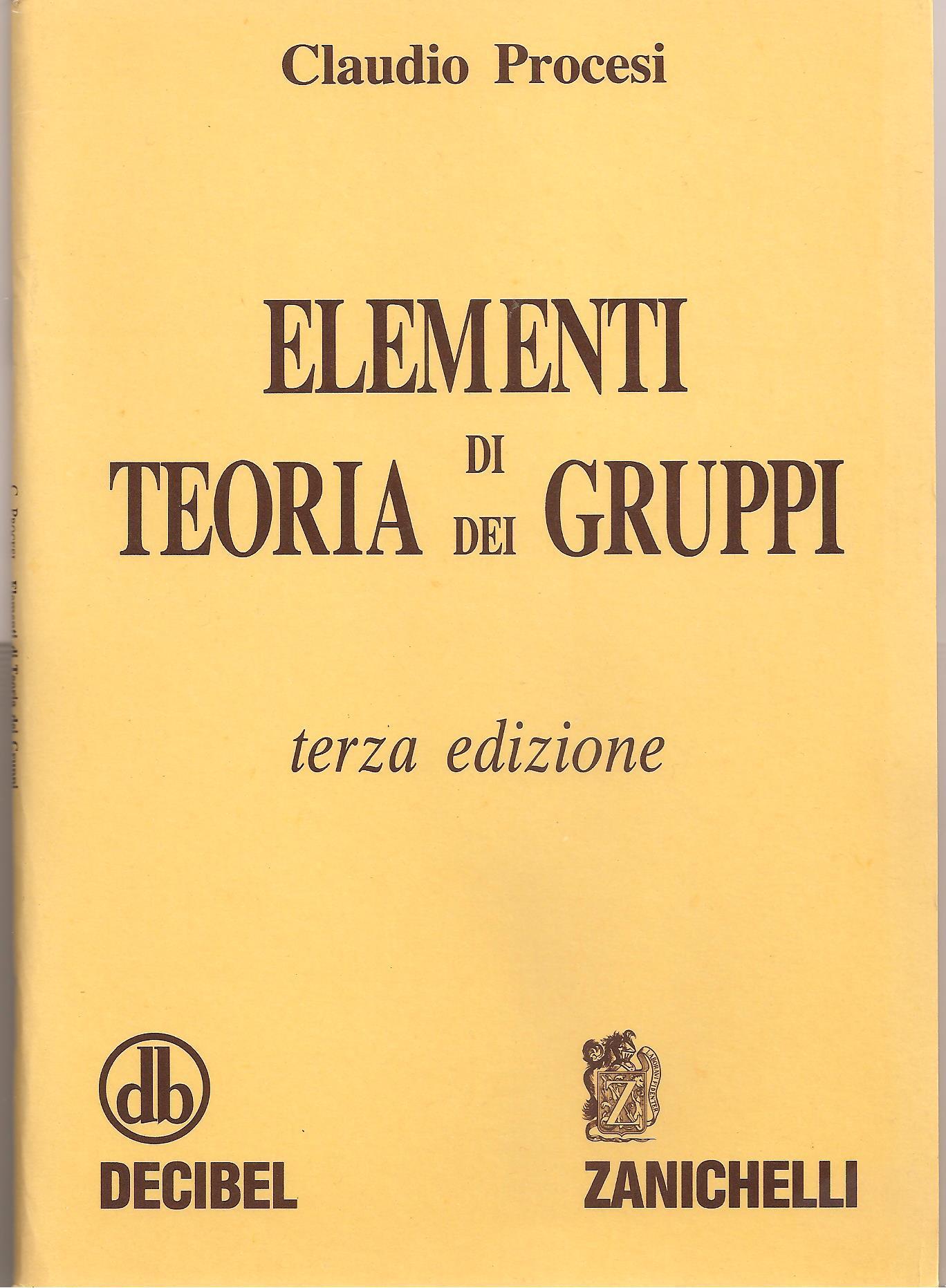 Elementi di teoria dei gruppi