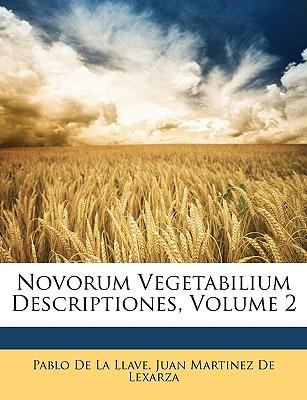 Novorum Vegetabilium Descriptiones, Volume 2