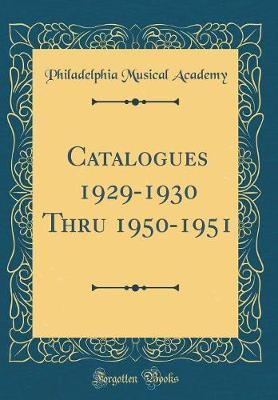 Catalogues 1929-1930...