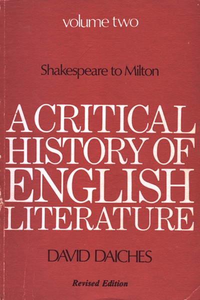 A Critical History of English Literature, Volume 2