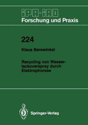 Recycling Von Wasserlackoverspray Durch Elektrophorese