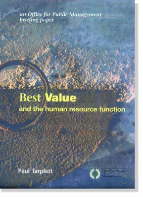 Bets Value and the Human Resources Function