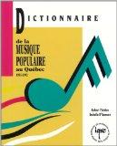 Dictionnaire de la musique populaire au Québec, 1955-1992